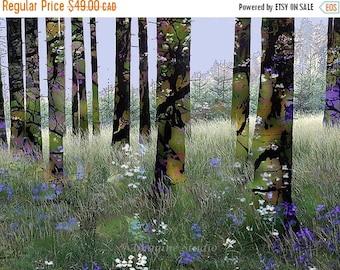 ON SALE 35% Nature, Landscape, Springtime, Fine Art Print, Giclee Archival Print, Photomontage, Collage, Painted Photographs,