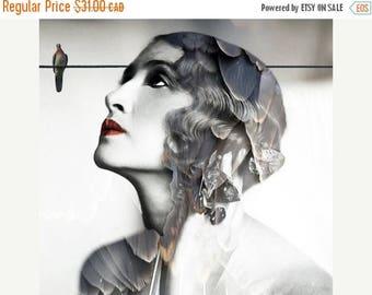 SALE-35% OFF, Photography, Portrait, Woman Portrait,  Fine Art Print, Giclee Archival Print, Photomontage, Collage, Painted Photographs, Hom