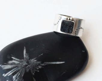 Mix it Up Ring - Black Druzy Ring