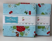 """SALE 2 Packs 5"""" inch squares SEW CHERRY 2 charm pack fabric by Riley Blake by Lori Holt"""