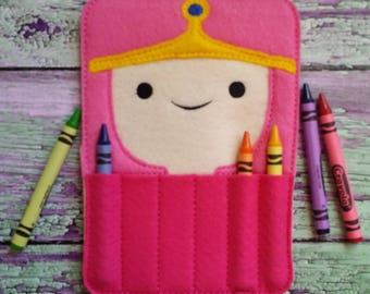 Bubblegum Princess Felt Crayon Holder * Crayon Holder * Coloring * Party Favor