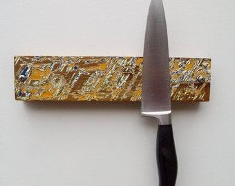 Magnetic Knife Rack, Knife Holder, Wooden Knife Storage, Chef Gift, Eco