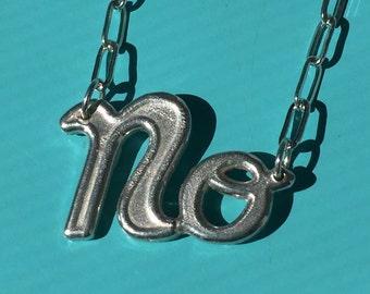 NO charm necklace - silver