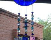 Butterfly Windchime Flowers Blue Garden Decoration Mothers Day Gift