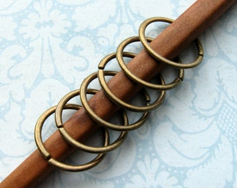 Bronze Linking Rings 20mm - 20 Pieces - Antique Bronze Unsoldered Centerpiece Rings (GFD0030)