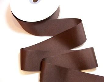 Medium Brown Grosgrain Ribbon 2 1/4 inches wide x 10 yards
