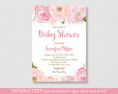 Soft Pink Floral Baby Sho...