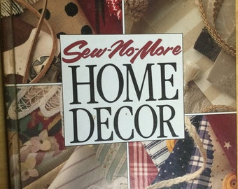 Home Decor book - vintage 1993 arts and crafts no sewing home decorating