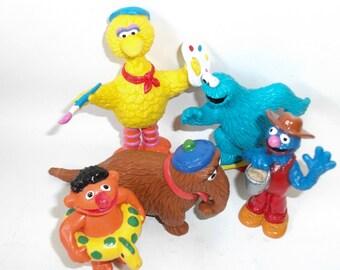 Vintage Sesame Street Figures Muppets Vintage Toys for Children