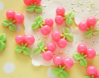 SALE 8 pcs Cherry Cabochon (17mm18mm) Hot Pink FR082