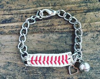 Recycled Baseball Bracelet