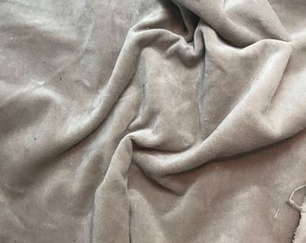 Hand Dyed Cotton VELVETEEN Fabric TAUPE BROWN - 1 Yard
