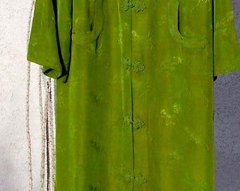 Vintage SUSI WONG Cheongsam Dress Rayon Shanghai