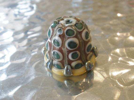 Lampwork Art Glass Collectible Thimble, OOAK, SRA, murano, silver glass, venetian, italian glass, thimble collectors, handmade glass thimble