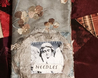 Needle book, needle case, Shabby Chic Angel