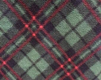 Fleece Green Plaid Blanket