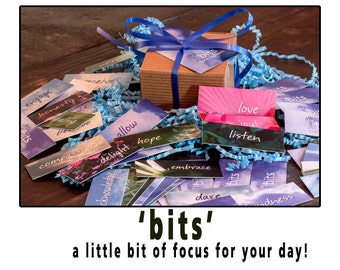 word cards, angel cards, cancer care package, girlfriend gift, bits
