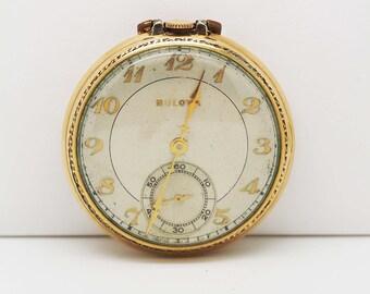 Bulova Rold Gold Pocket Watch Runs Well!
