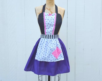 Princess apron, Rapunzel  chore APRON, Princess apron, funky Rapunzel apron,  full Apron, Rapunzel costume apron, running costume
