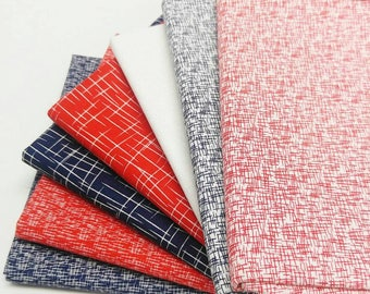 Riley Blake Red and Navy Hashtag bundle - 7 Fat Quarters