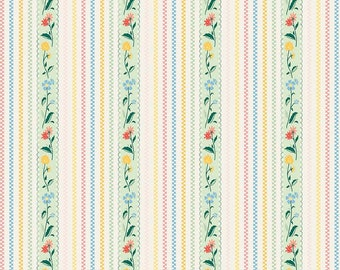 Bunnies and Cream, By Lauren Nash Bunnies Stripe Mint C6023-Mint