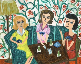 """They were finishing their first highball.  Limited edition 12x12"""" print by Vivienne Strauss."""