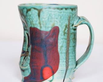 stoneware coffee mug (reserved for  Georgia!)