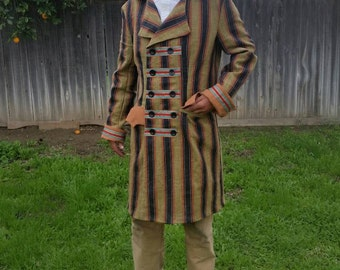 Suit Jacket Coat Hermans Eco L 42 USA Double Breasted Steampunk