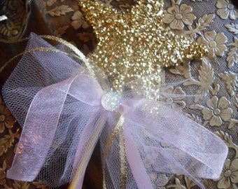 Godmother Wand - Every Princess Needs in Gold
