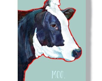 Cow metal sign 8x12 indoor outdoor garden decoration cow home decor wall art