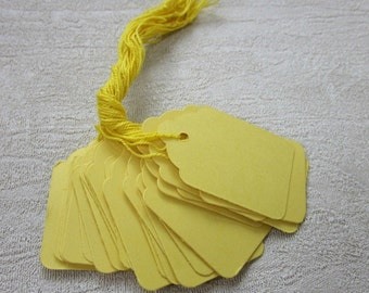 25 Medium Yellow Hang Tags