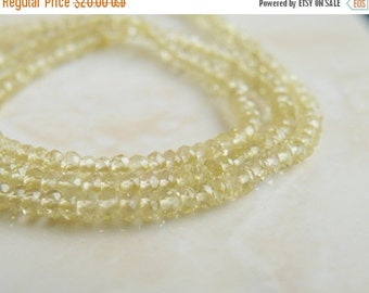 Love You 51% off Sale Exceptional Lemon Quartz Gemstone Faceted Rondelle 3mm 180 beads Full strand