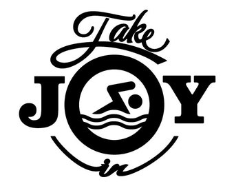 Take Joy In Swimming Decal