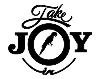Take Joy In Parrots Decal
