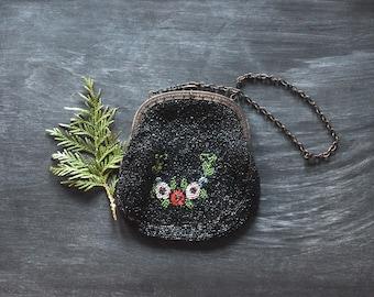 Antique Victorian Beaded Purse, Antique Purse, Vintage Beaded Purse, Victorian Purse, Antique Beaded Bag, Clutches & Evening Bags