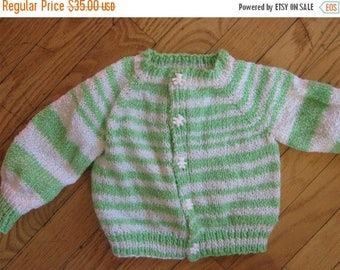 FLASH SALE knit baby sweater -- size 6 - 12 months