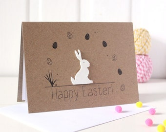 Handmade Easter Card. Easter Bunny Card. Easter Rabbit Card. Easter Bunny. happy easter card. bunny card. Cards for easter.