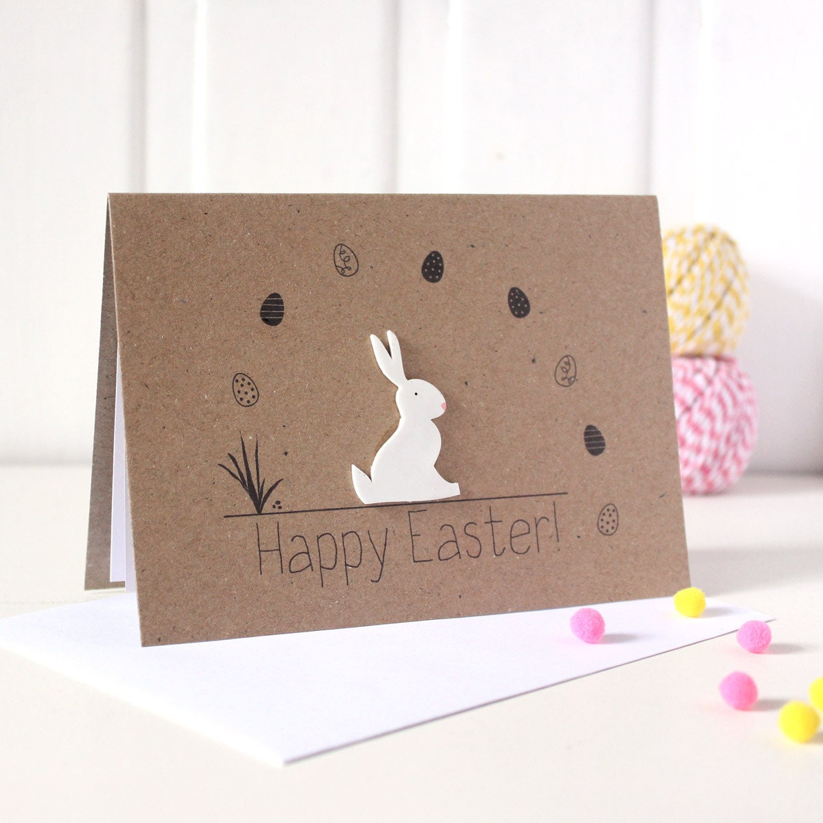 Happy easter card – Easter Postcard Template