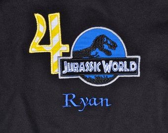 Jurassic world birthday shirt with name monogram available