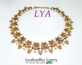 LYA ARCOS HoneyComb SuperiDuo OBeads and Pelet Beadwork Necklace Pdf tutorial instructions for personal use only