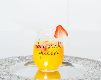 Brunch Queen Wine Glass