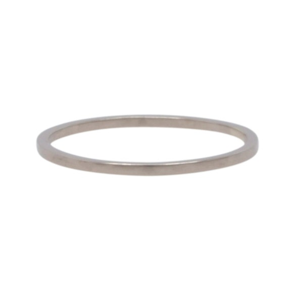 white gold wedding band square edge 1mm by