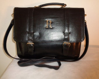 Rosa All  genuine leather mini brief style bag, cross body purse,case, pocketbook gorgeous vintage  70s