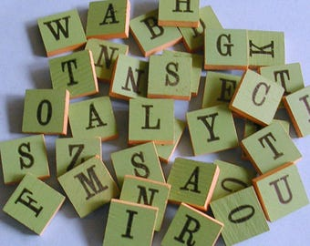 Vintage Anagrams Letters Letter Anagram Anagrams Set of 15 Wooden Anagrams