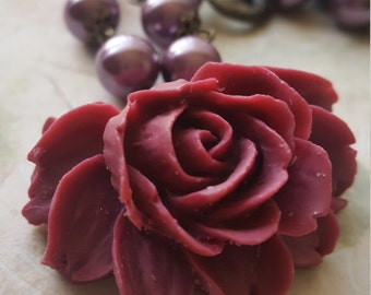 My lovely Rose Brass, Vintage Styled Necklace