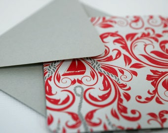 Mini Cards / Blank Cards / Favor Cards / Nautical Cards / Thank You Cards / Cards with Envelopes / Gift Cards / Birthday Cards / mad4plaid