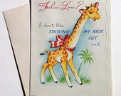 Vintage Feeling Low Greeting Card Get Well Cartoon Animals 1940s
