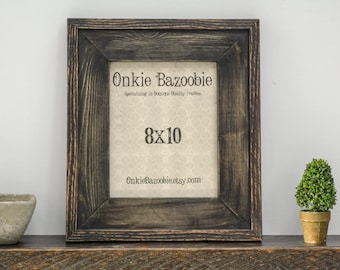 Rustic Wood Picture Frame, Rustic Picture Frame, 8x10 Wood picture frame, Wooden Picture frame, Black picture frame, 8x10 Frame