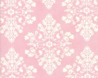 Lily Will Revisited Pink Damask Medallion fabric | Moda fabric 2802 41 | Cotton Quilting fabric