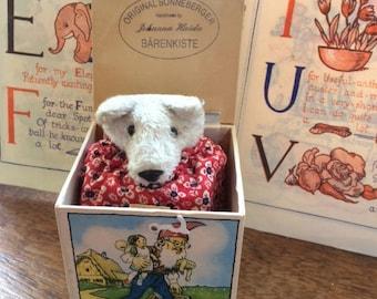 Original Sonneberger 'Jack in the Box Bear' by Johanna Haida ~ Barenkiste